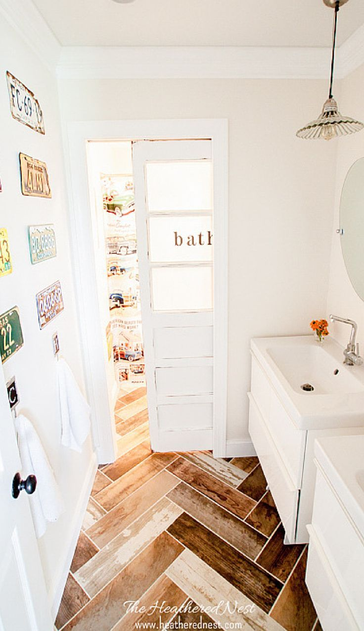 Emily brooks uncovers the bathroom basics that are vital to know - Less Than 2000 Fully Renovated Kids Vintage Transportation Inspired Bath Check It Out