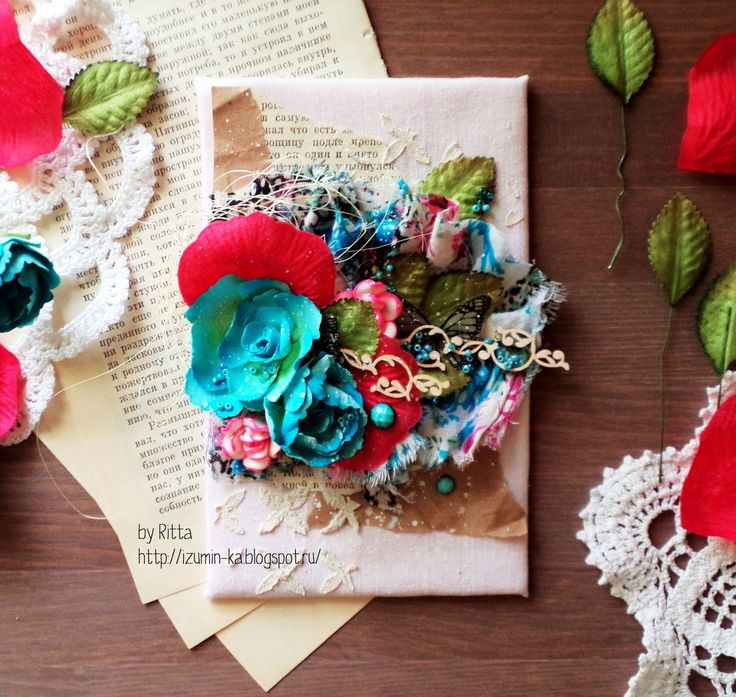 Скрапоголики: Уютные открытки из ткани