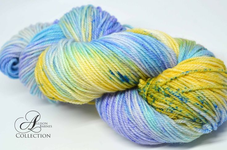 Hand Dyed Superwash Merino Wool and Nylon Yarn - Fingering Sock weight - Forget Me Not by allisonbCOLLECTION on Etsy https://www.etsy.com/ca/listing/494539658/hand-dyed-superwash-merino-wool-and