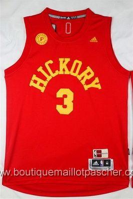maillot nba pas cher Indiana Pacers Hill #3 rouge nouveaux tissu 22,99€