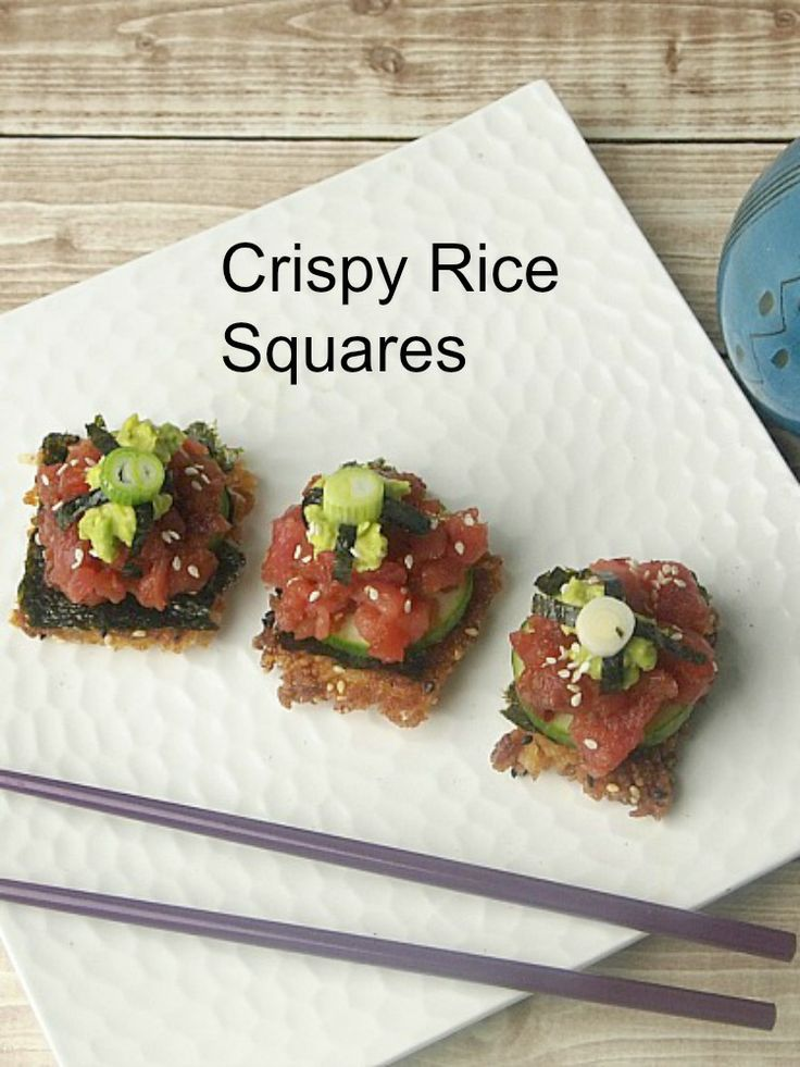 Crispy Rice Squares: Crispy Rice, Rice Squares, Recipe Appetizers, Kosher Cooking, Kosher Recipe