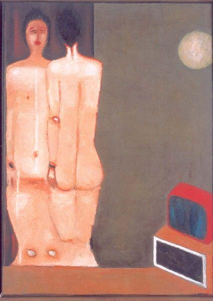 """Jerzy Nowosielski, """"Akt z lustrem"""" (1977)"""