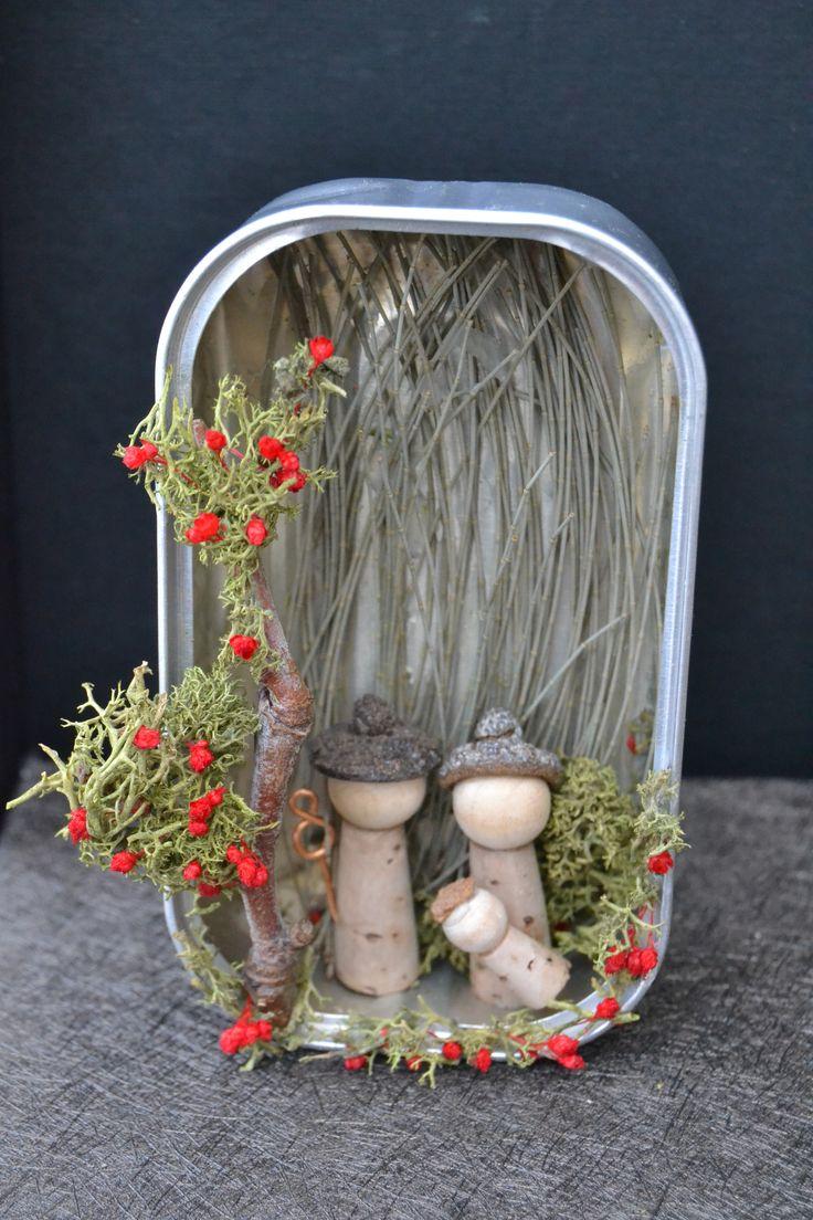presepio em lata de conserva! nativity scene