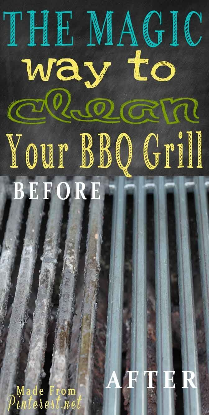 how to clean your grill without scrubbing: ammonia is the key. - Perfect...ours is due for a good cleaning before summer!