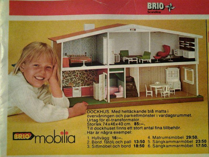 Majas docksk p brio mobilia fr n 1974 brio and train for Mobilia 1970