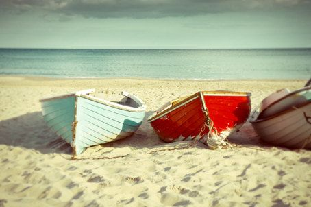 summer 2012 rowing boats on the beach 9x6 inch photo by kinograph, $18.00