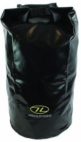 Wasserdichter PVC Packsack 15L 30L Schwarz Orange Verschiedene Größen und Farben (Schwarz, 45 L)