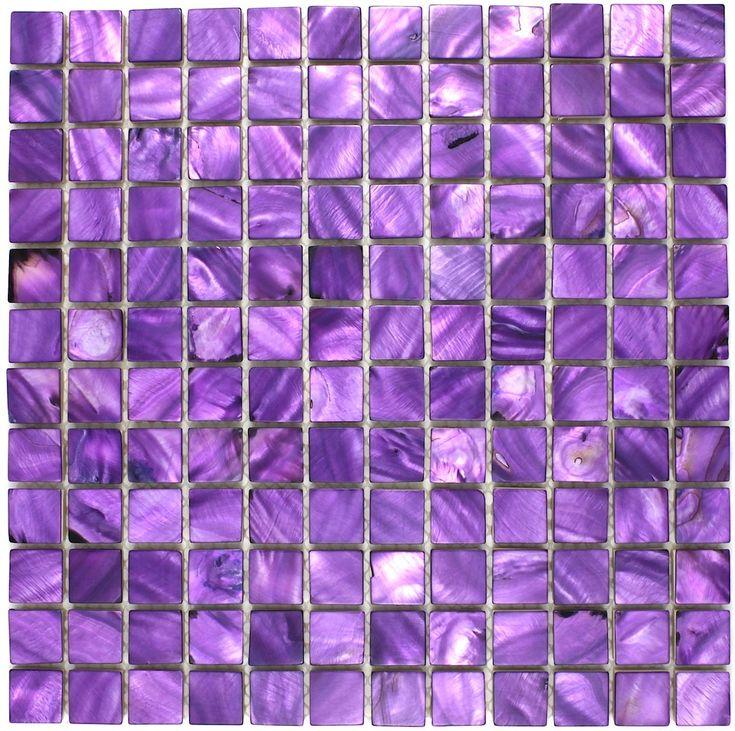 mozaieken badkamer en douche pearl syg-nac-vio2318,50 €Lengte: 30 cm, breedte: 30 cm, Dikte: 8 mm, Materiaal: nacre, kleur: violet, Tegelgrootte: 2,3 x 2,3 cm, Hoeveelheid: 1 plaat, oppervlak: 0,1 m2, Grootte van de plaat: 32 x 32 cm