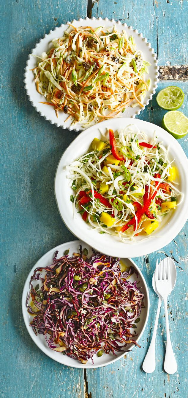 This raw red cabbage and mixed seed side salad can be on the table in just 15 minutes - serve alongside Asian-inspired mains