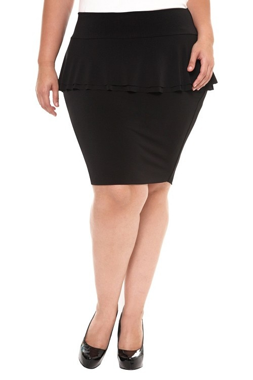 Black Peplum Pencil Skirt  - I've been looking for a new black - not boring, skirt to wear to job interviews.