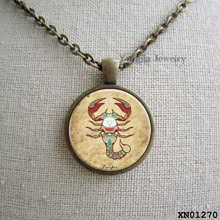 Скорпион Кулон Скорпион Ожерелье Знак Зодиака Кулон Созвездие Ювелирные Изделия