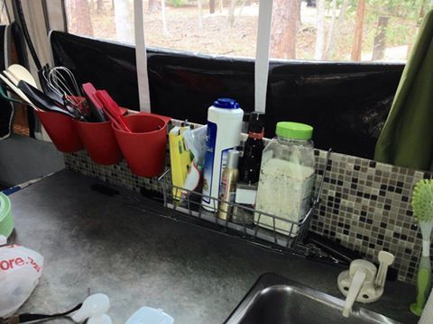 Pop Up Camper Storage Idea Found On Facebook Backsplash Storage