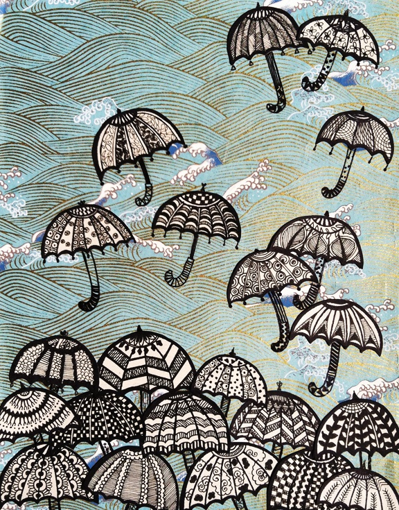 Upside Down.: Parapluies Umbrellas, Umbrellas Ella Ella Ella A A A, Monsoon Shower, Umbrellas Prints, Illustrations, Illustration, Umbrellas Umbrellas, Umbrellas Repin By Pinterest, Under My Umbrellas