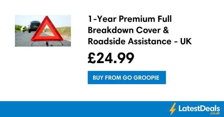 1-Year Premium Full Breakdown Cover & Roadside Assistance - UK Wide!, £24.99 at Go Groopie