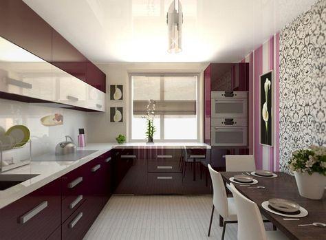 Современный дизайн кухни 12 кв. м.