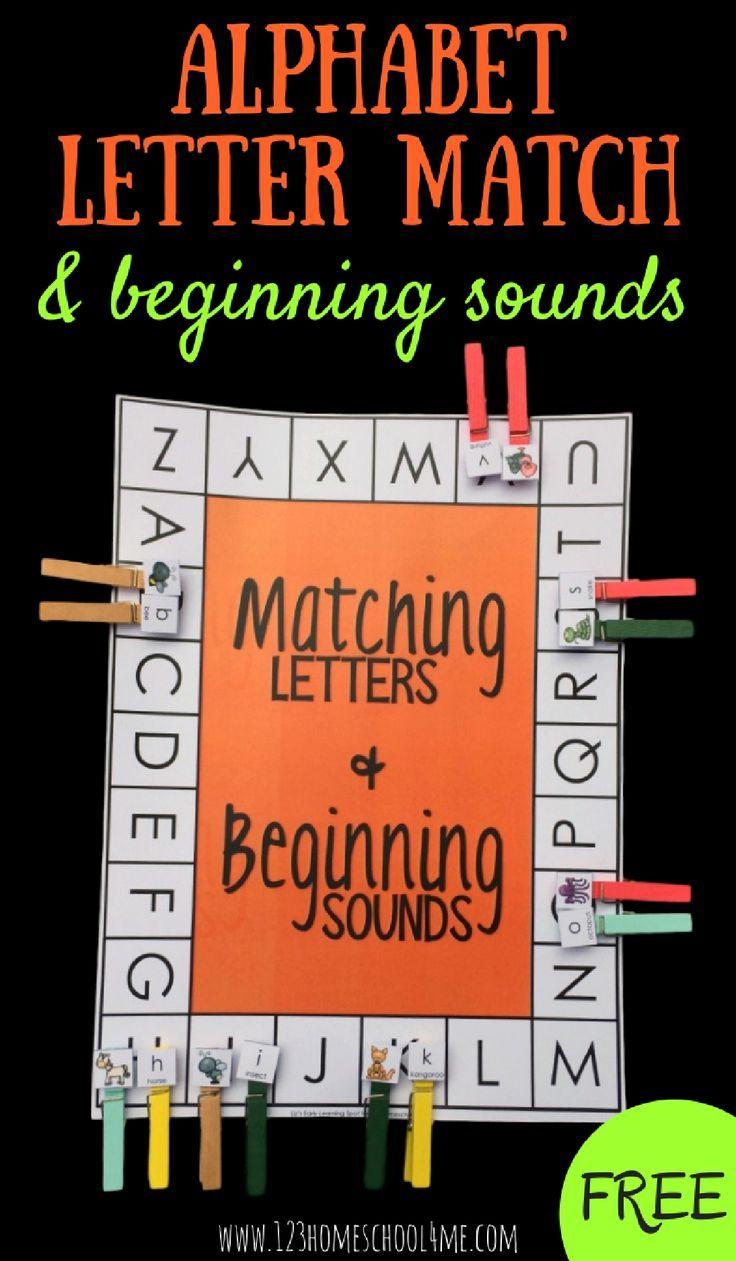 FREE Alphabet Letter Match Beginning Sounds Activity