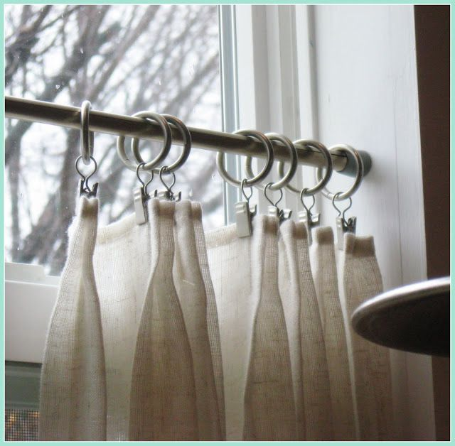 Easy and farmhouse inspired - use white flour sack towels for cafe curtains.