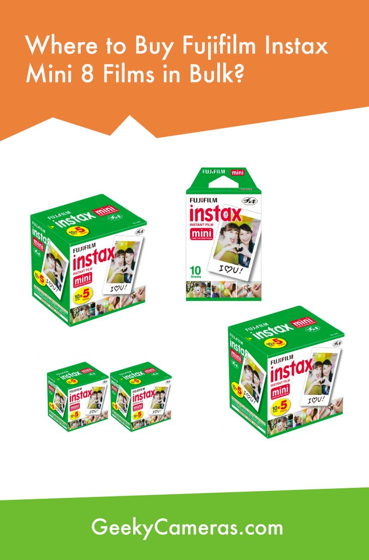Fujifilm Instax Mini 8 Films http://www.geekycameras.com/buy-fujifilm-instax-mini-8-film-bulk/