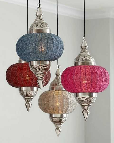 Manak Pendant Lights Bringing Ethnic Interior Decorating Accents into Homes ( I have the source of these types of Moroccan Lights )