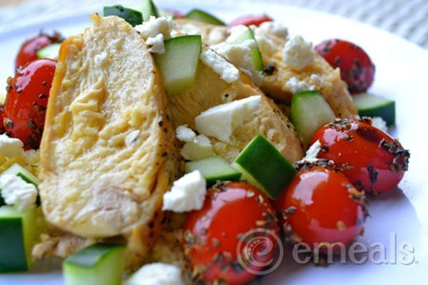 Chicken with Feta and Tomatoes - a simple chicken recipe you will love! #chicken #feta #tomatoes