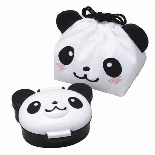 Caja bento fiambrera con bolsa almuerzo oso panda de Japón
