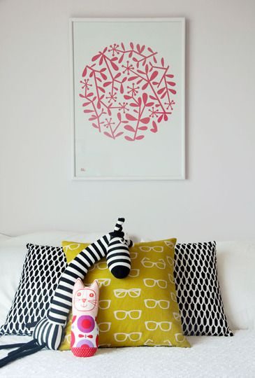 Love the pillows & print
