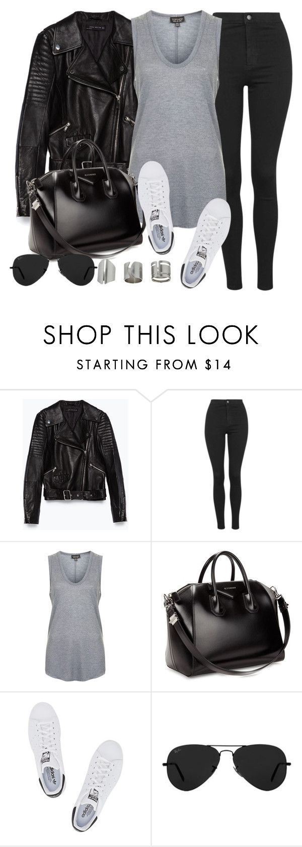 """Style #10080"" by vany-alvarado ❤ liked on Polyvore featuring Zara, Topshop, Givenchy, adidas Originals and Ray-Ban"