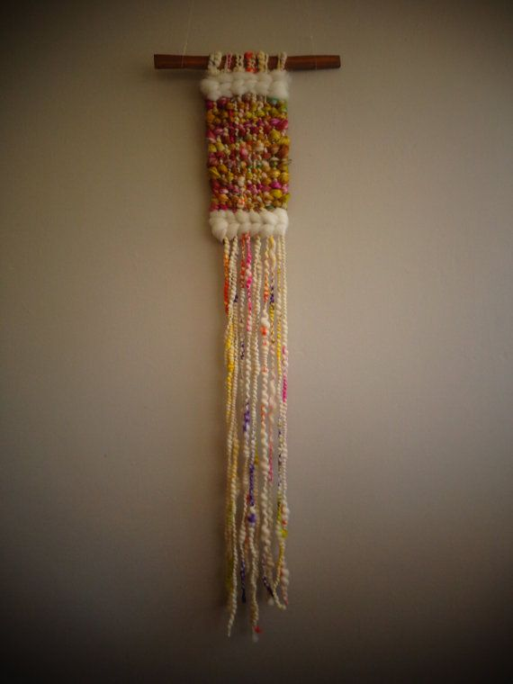 Wool and silk Woven Wall Hanging by CrisalidaTextile on Etsy