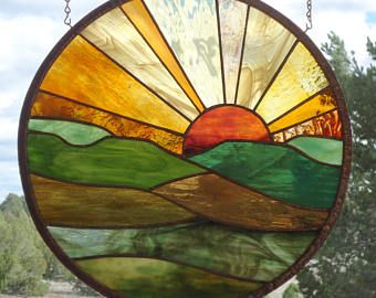 panneau de fenêtre vitrail HOPI papillon 2 de sable