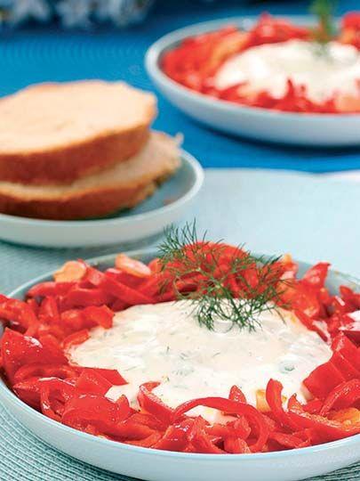 Yoğurtlu kırmızı biberli diyet salata Tarifi - Diyet Yemekleri Yemekleri - Yemek Tarifleri