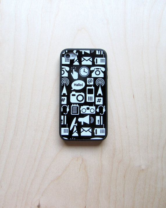 Case for iPhone 4 / iPhone 4S Communication by TamTamPatterns,