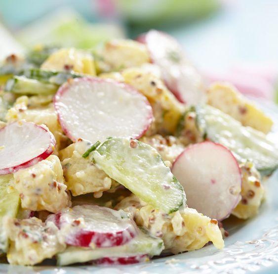Kartoffelsalat mit Gurke und Radieschen Tags: