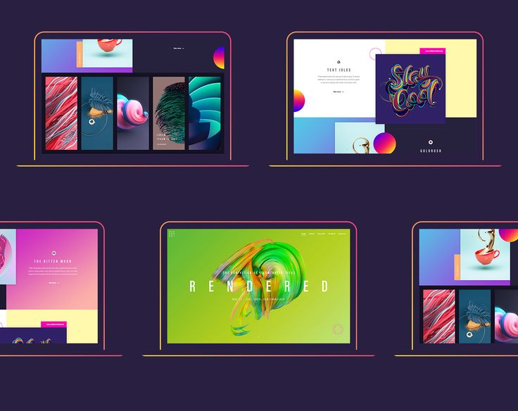 Rendered — a responsive demo website for Adobe on Behance
