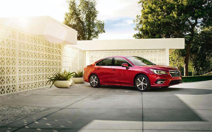 Hämta bilder Subaru Legacy, Bilar 2018, stajla, red legacy, japanska bilar, Subaru