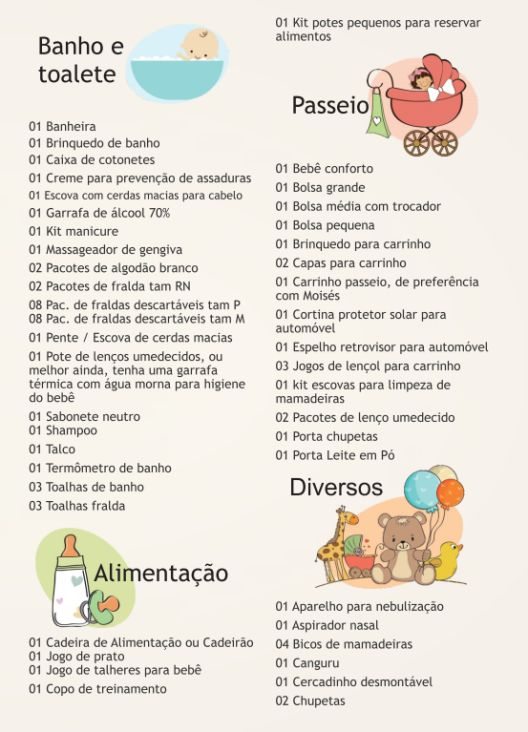 Lista do Enxoval do Bebê e da Mamãe! | Tulipa Baby