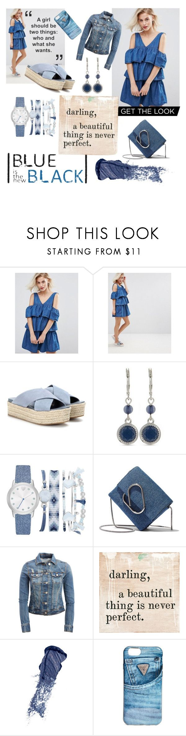 """Denim Darling"" by amartin10 ❤ liked on Polyvore featuring Pull&Bear, Miu Miu, Nine West, A.X.N.Y., 3.1 Phillip Lim, Aéropostale, Bobbi Brown Cosmetics and GUESS"
