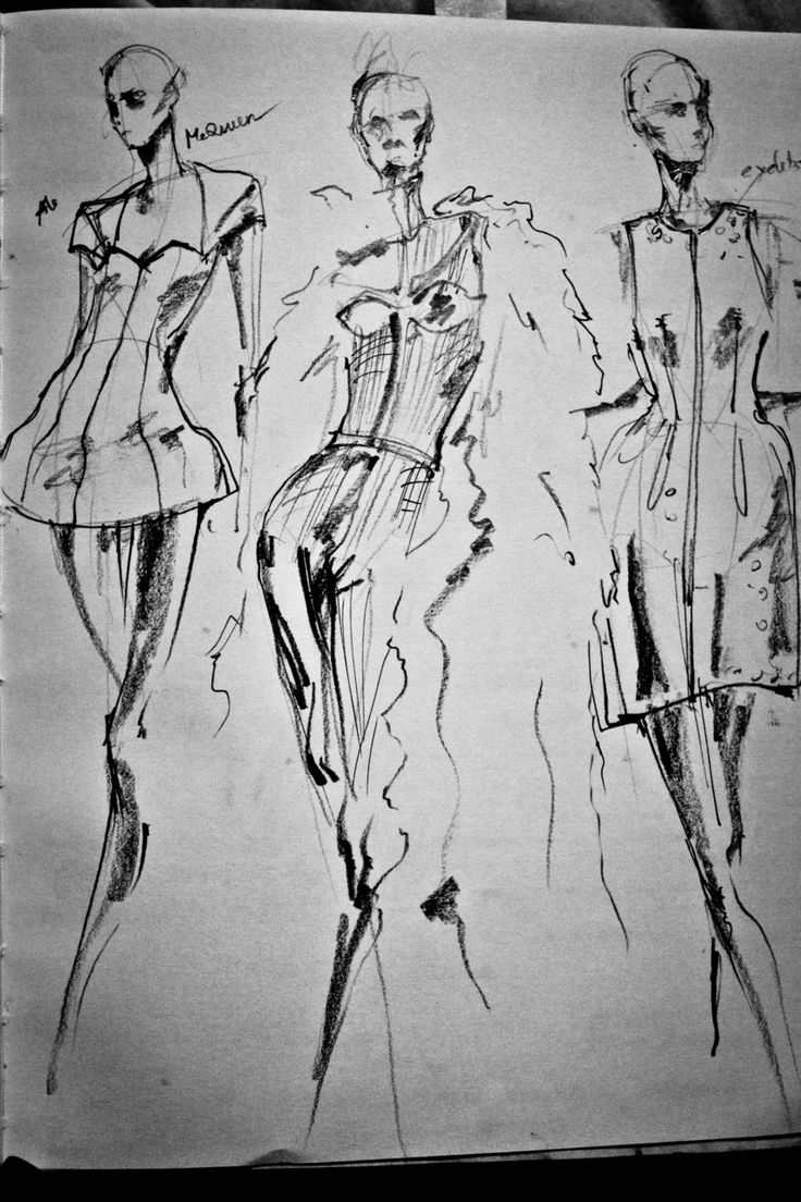 Fashion Sketchbook - fashion design drawings; charcoal fashion sketches // Peter Do