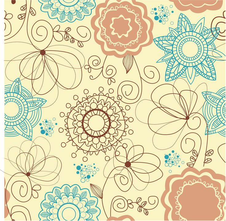 #vector #art #pattern #floral #vintage #illustration #drawing
