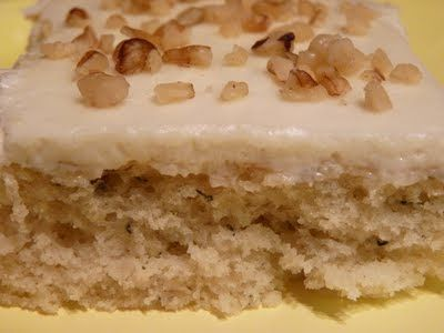 Fantastic Family Favorites: Sour Cream Banana Sheet Cake