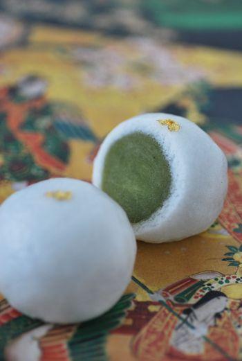 抹茶あんの常盤まんじゅう jyouyomannjyuu#和菓子#wagashi#Japanese Sweets