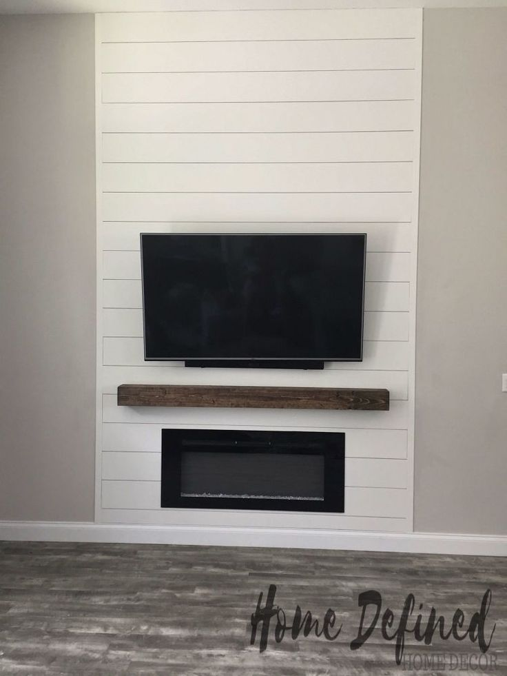 DIY Shiplap Accent Wall