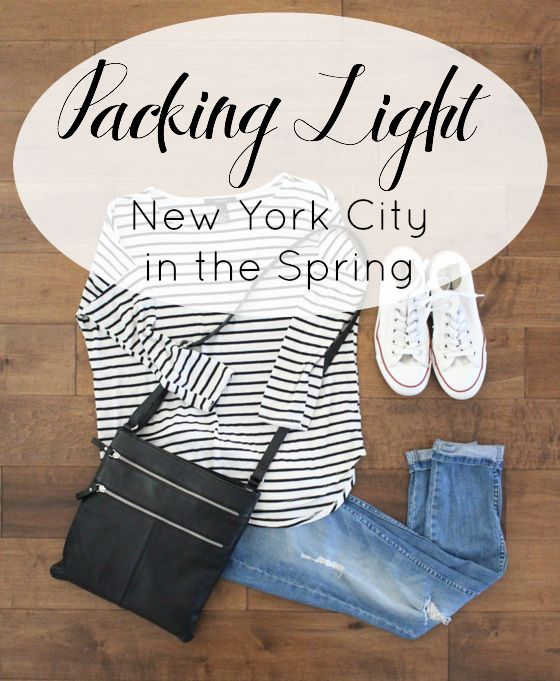 packing light NYC in spring