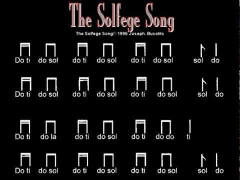 Solfege Song... good harmonies going on.  High Do is not indicated with do '.  Point this out to kids when teaching.