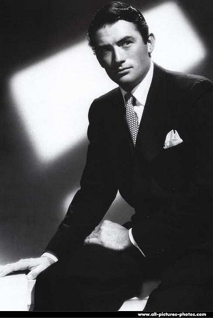 Gregory Peck. The things this man makes me want to do are illegal - bet he'd have been worth it.