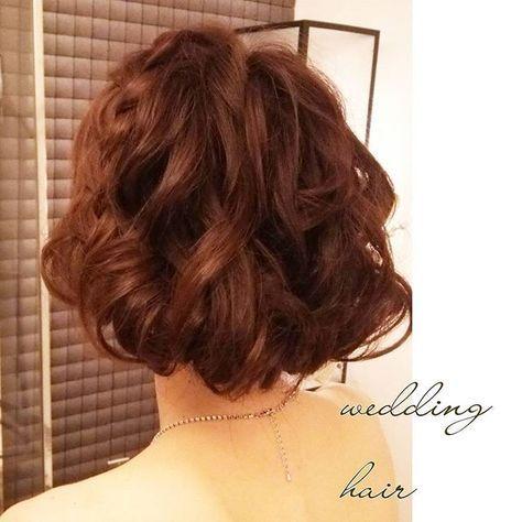 ロングヘア→ボブ風  #ボブ風 #ヘアアレンジ#ヘアセット#ヘアスタイル#ヘア#ブライダルヘア #ブライダル#ウェディングドレス #挙式スタイル #hairarrange#hairset #結婚式#weddinghair #プレ花嫁#wedding#bridal#hairdo #Instagram#ルーズ
