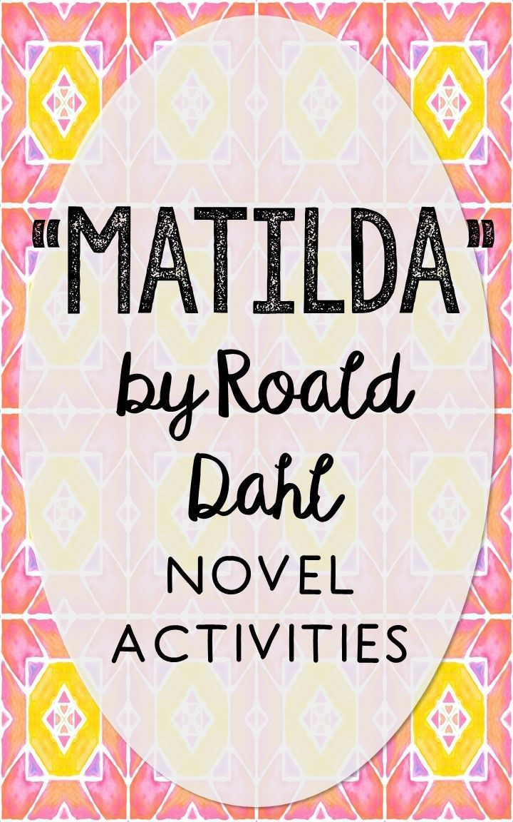13 best Matilda Activities images on Pinterest | Roald dahl ...