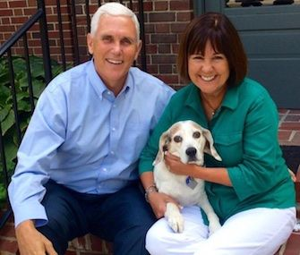 VP candidate Mike Pence and his wife, Karen, are mourning the loss of their Beagle, Maverick.