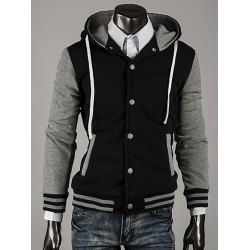 SHARE & Get it FREE | Hooded Color Block Stripe Spliced Varsity HoodieFor Fashion Lovers only:80,000+ Items • FREE SHIPPING Join Twinkledeals: Get YOUR $50 NOW!