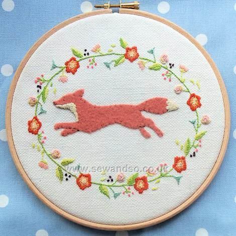 34 best downloadable products images on pinterest punch needle buy leaping fox hoop embroidery pattern download only online at sewandso dt1010fo