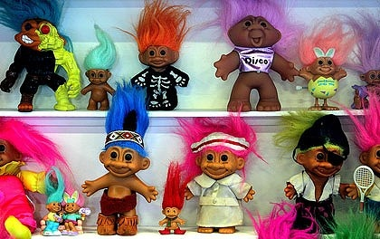 Loved going to Gurnee Mills and seeing the Troll kiosk.